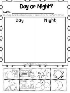 best day and night activities images  science lessons preschool  pajama day activities