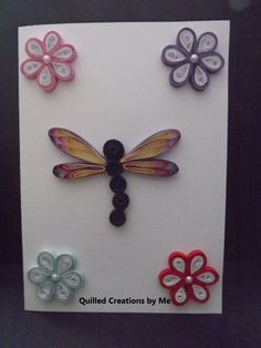 Quilled greeting card made by Quilled Creations by Me