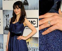Pin for Later: Die schönsten Eheringe der Stars Zooey Deschanel Zooey Deschanel verlobte sich im Dezember 2008 mit Neil Lane.