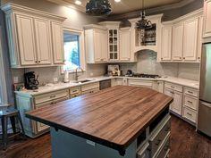 Black Walnut Butcher Block Counter Top / Island Top | Etsy Walnut Kitchen, New Kitchen, Kitchen Ideas, Rustic Kitchen, Kitchen Redo, Kitchen Stuff, Kitchen Interior, Best Kitchen Layout, Asian Kitchen