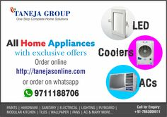 Exclusive home appliance offers at Taneja Group! Visit www.tanejasonline.com NOW!