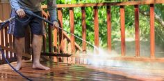 Does your deck look dull and dirty? Pressure wash it following this guide to restore its appearance and make it comfortable to walk on.