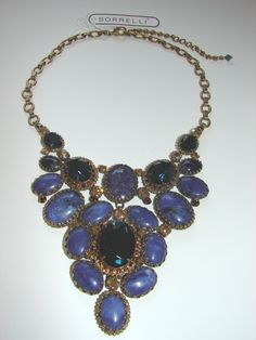 SORRELLI GORGEOUS TIERED OVAL ENCRUSTED STONES & CRYSTALS NECKLACE!  http://www.ebay.com/itm/SORRELLI-GORGEOUS-TIERED-OVAL-ENCRUSTED-STONES-CRYSTALS-NECKLACE-/311439465555?ssPageName=STRK:MESE:IT