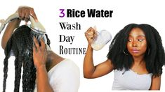 The Ultimate Rice Water Hair Growth Strategy For Longer Hair! - Hair Growth Tips - Diy Hair Growth Oil, Black Hair Growth, Hair Remedies For Growth, Hair Growth Treatment, Hair Growth Tips, Natural Hair Growth, Natural Hair Styles, Healthy Hair Growth, Hair Regrowth