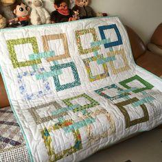 Free Motion Patchwork Quilt,Handmade.
