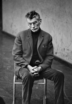 "Beckett at a rehearsal of ""Beginning To End,"" 1965. Photograph by Dmitri Kasterine."