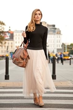The Tulle Skirt. It Doesn't Get More Feminine Than That  --  Pale Pink Tulle Skirt By Anataka