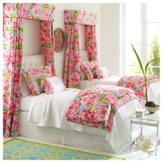 hotty pink first impression bedding! | garnet hill.