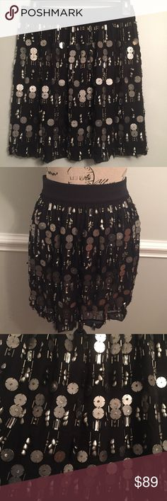 Robert Rodriguez Black Silver Sequin Beaded Skirt Gorgeous NWOT Robert Rodriguez Black And Silver Beaded Sequin Skirt. Size 6. ‼️Feel Free To Make Offers And Ask Questions! Robert Rodriguez Skirts