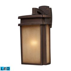 ELK 1-Light Outdoor Sconce in Clay Bronze