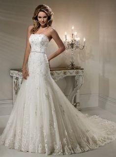 Robe de mariage 2011 bustier dentelle traîne [#LOOK11459] - €179.00 Lookmariage.com