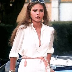 """"""" favourite outfits >> Ornella Muti >> Il bisbetico domato """"I've been after you for 2 days, I take you out to dinner, I fight with my friend - isn't it obvious that I want to be alone with. Jane Birkin, Marlon Brando, Jack Nicholson, Ornella Muti, Laetitia Casta, Italian Actress, Italian Beauty, Famous Movies, Delon"""