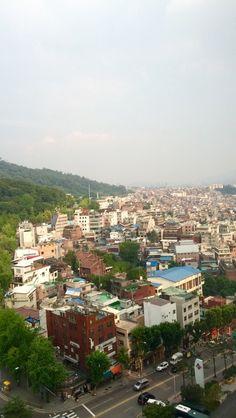 View of Seoul from the Millennium Seoul Hilton, Jung-gu, Seoul.