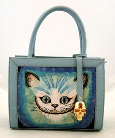 Handmade Tattoo Bag: Double Face Small (smiling Cat)