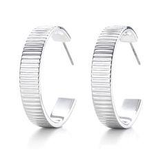 Tiffany Stripe Hoop Earrings