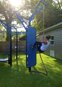 New features for the T-Rex, Kickplate, Y-extender for Climbing ropes and Rings. Also shown is the 4-tiered Climber bars