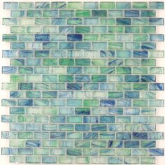 "Creative Decore  5/8"" x 1-1/4"" Mini Brick, Uniform Brick, Mallard, Glossy, Green, Glass"