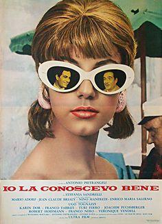 "movieposteroftheday: "" Italian poster for I KNEW HER WELL (Antonio Pietrangeli, Italy, 1965) Designer: unknown Poster source: Benito Movie Poster """
