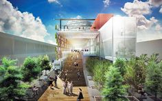 Biber Architects Breaks Ground on USA Pavilion With Edible Vertical Garden for the Milan Expo 2015