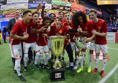 Manchester United's youngsters pulled off the most remarkable of triumphs in the Sparkasse & VGH Cup five-a-side tournament in Germany
