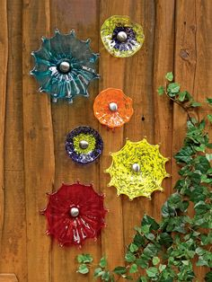 "Viz Glass Fence Flower, 5"" | Glass Garden Art | Gardeners.com"