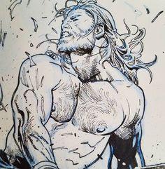 This is how i imagine myself with long hair. Comic Book Artists, Comic Artist, Comic Books Art, Character Design Animation, Character Art, Comic Book Layout, Marvel Comics, Manga Anime, Thor