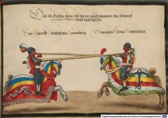 Turnierbuch. Ritterspiele gehalten von Kaiser Friedrich III. und Kaiser Maximilian I. in den Jahren 1489 - 1511 - BSB Cod.icon. 398, Augsburg ?, Mitte 16. Jh. [BSB-Hss Cod.icon. 398]