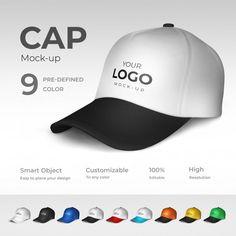 Cap mockup Premium Psd | Free Psd #Freepik #freepsd #mockup #white #hat #modern Business Card Mock Up, Vector Photo, Mockup, Your Design, Branding Design, Cap, Miniature, Colours, Elegant