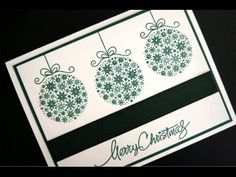 """Simply Elegant Ornament Card"" with Gina K from Gina K Designs and the host of StampTV."