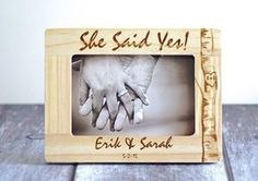 She said Yes - Gift for couple - Engagement gift- Romantic frame- Personalized Gifts for him or her