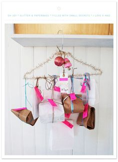 The Clothes Hanger Advent Calendar | 33 Clever And Adorable DIY Advent Calendars