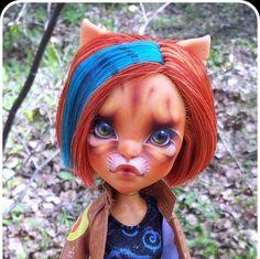 Monster High Ooak doll Jade by Hellfishop on Etsy