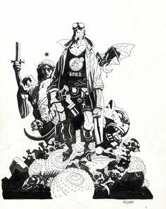 Hellboy Sourcebook cover-2002 Comic Art