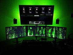 My Happy Place | Desks, Gaming setup and Long shelf