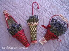 Lavender - The Chalet des Perelles Lavender Wands, Lavender Crafts, Lavender Flowers, Dried Flowers, Hobbies And Crafts, Diy And Crafts, Corn Husk Wreath, Crochet Earrings Pattern, Deco Floral