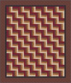 25 Easy Quilt Patterns for Beginning Quilters: Simple Rail Fence Quilt Pattern