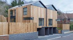 Casas gemelas contemporáneas de madera en Inglaterra | ARQUITECTURA de CASAS