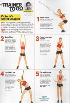Victoria Secrets trainer Michael Olajide's workout featured in SELF magazine.  www.brooklynfitchick.com