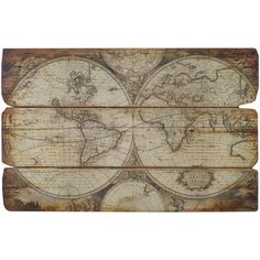 Rustic Map of the World #rustic #world #map