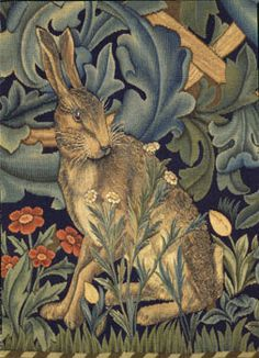 Detail from The Forest by William Morris, Philip Webb and John Henry Dearle Tapestry - Woven Wool and Silk on a Cotton Warp London, England, 1887 © V Images/Victoria and Albert Museum, London