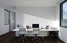 Minimal workstation in white
