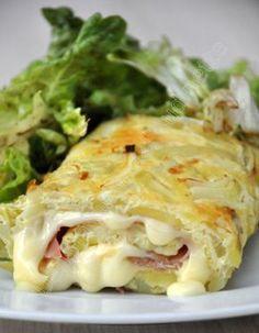 Omelette roulée façon tartiflette, Recette de Omelette roulée façon tartiflette par Aude C. - Food Reporter