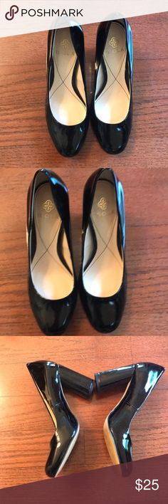 Isola Black Heels Isola Black Heels.  Size 6.5.  Worn only inside for a few minutes.  Excellent condition.  Small mark on only of the Heels that is only noticeable up close.  See picture 8. Isola Shoes Heels