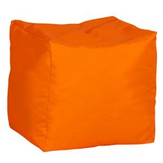 Neon orange square bean bag. £28.99  http://www.worldstores.co.uk/p/Bonkers_Flake_Bag_Stool.htm