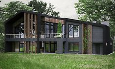 Modern Architecture House, Facade Architecture, Modern House Design, Modern Houses, Minimalist Architecture, Luxury Houses, Modern Buildings, Landscape Architecture, House Landscape