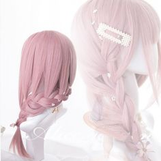 Kawaii pink lolita straight wig with bangs – Kuru Store men toupee women toupee Thin Bangs, Wavy Bangs, Wigs With Bangs, Lolita Cosplay, Kawaii Cosplay, 360 Lace Wig, Lace Wigs, Remy Human Hair, Human Hair Wigs