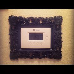 Framed thermostat