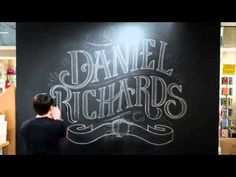 A large-scale chalk installation for Daniel Richards, a stationery & fine gift rep group based out of Atlanta, GA. Presented by ColoursPedia.
