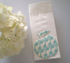 Duct Tape Wallet White with Damask Apple by elegantduck on Etsy, $16.00
