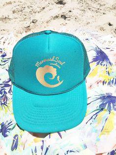 Mermaid Soul Wahine Trucker Hat on Etsy www.mermaidsoulwahine.etsy.com
